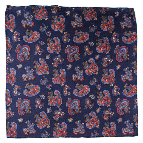 Tellaro Paisley Silk Pocket Square