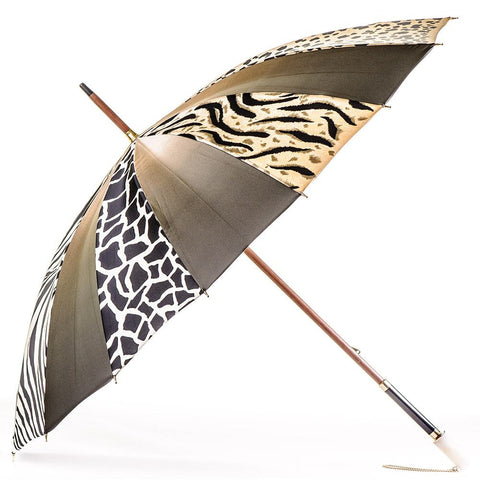 Animal Print Italian Luxury Double Canopy Umbrella