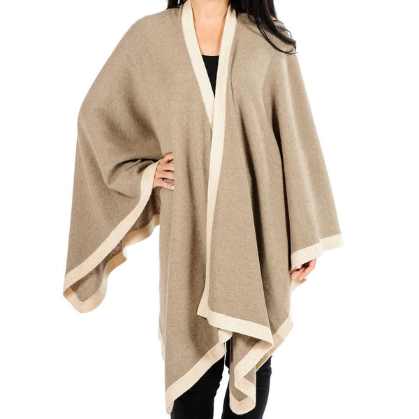 Mocca and Latte Cashmere Cape