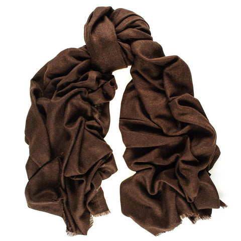 Chocolate Brown Cashmere Ring Shawl