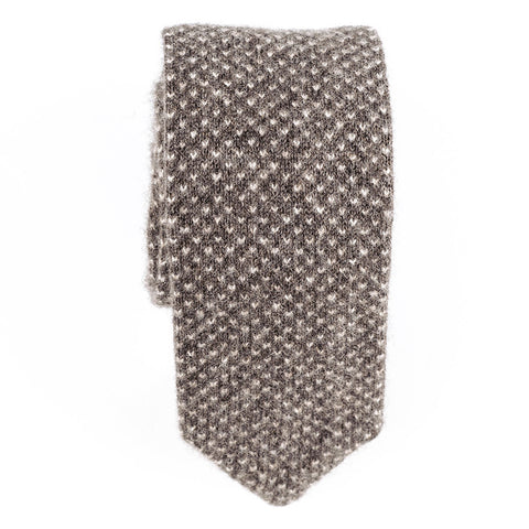 Nut Brown Knitted Cashmere Tie