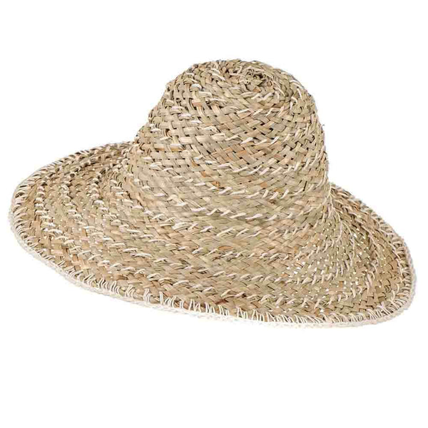 Natural and Ivory Straw Sun Hat