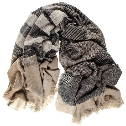 Outsize Antique Loom Cashmere Blanket Scarf