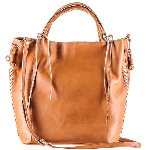 Embellished Tan Calf Leather Tote