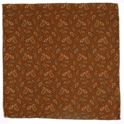 Arvo Paisley Soft Cotton Pocket Square