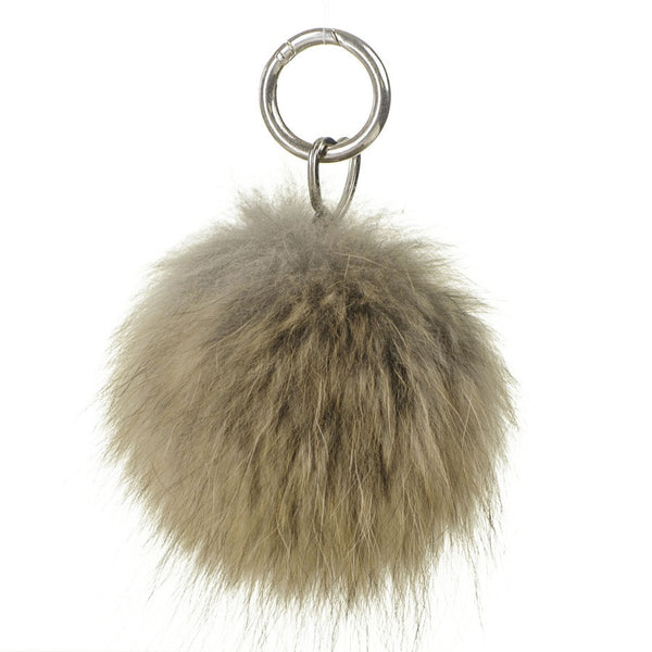 Tawny Brown Fur Handbag Pom Pom