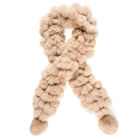 Latte Rabbit Fur Scarf