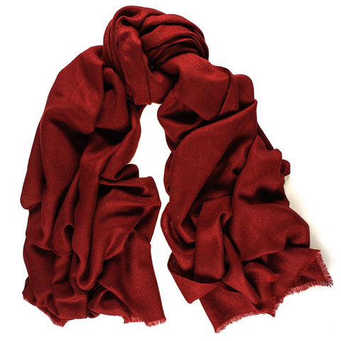 Burgundy Cashmere Ring Shawl