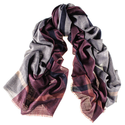 Curzon Merino Wool and Silk Scarf