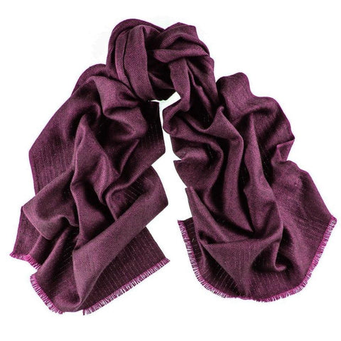 County Herringbone Silk and Merino Wool Scarf