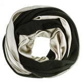 Champagne Silk and Black Cashmere Snood - SOLD OUT