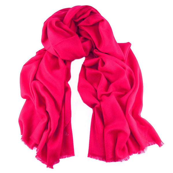 Raspberry Pink Handwoven Cashmere Shawl
