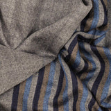 Chancery Grey Melange Wool and Silk Scarf