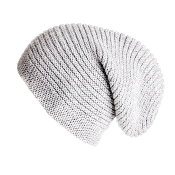 Cloud Grey Cashmere Slouch Beanie Hat