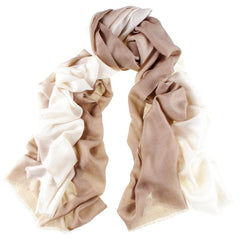 Cream to Caramel Cashmere and Silk Wrap