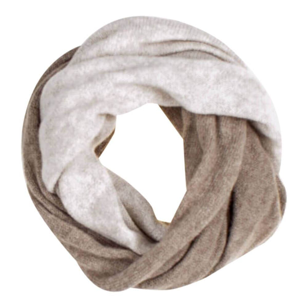 Light Brown and Beige Cashmere Snood