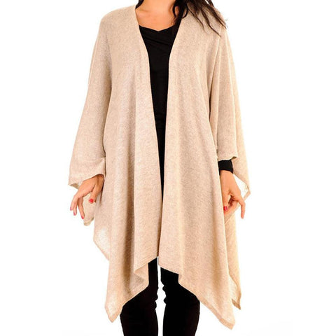 Latte Cashmere Coatigan