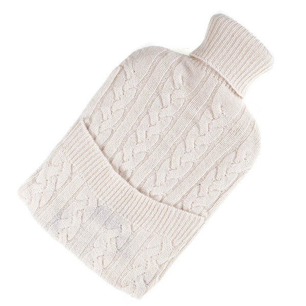Cream Cashmere Hot Water Bottle Cover