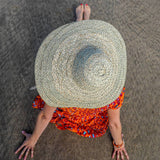 Natural Floppy Brim Straw Sun Hat
