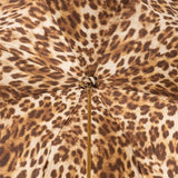 Cream and Leopard Print Double Canopy Luxury Umbrella