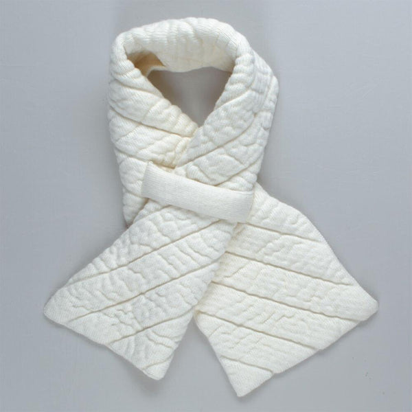 Ivory Quilted Cashmere Scarf