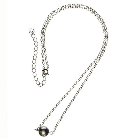 Cressida Single Tahitian Black Pearl Pendant