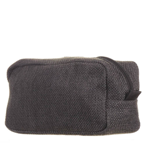 Men's Anthracite Tweed Wash Bag