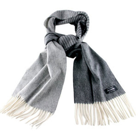 Grey Graduation Cashmere Scarf