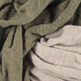 Olive Green and Taupe Cashmere Snood