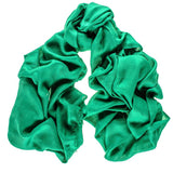 Emerald Green Cashmere and Silk Wrap