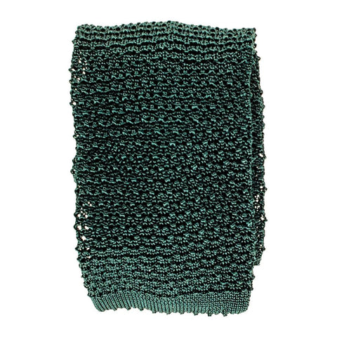 Green Italian Silk Knitted Tie