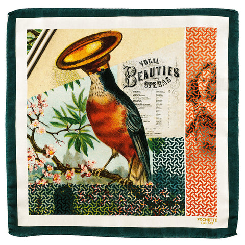 'Vocal Beauties' Italian Silk Pocket Square