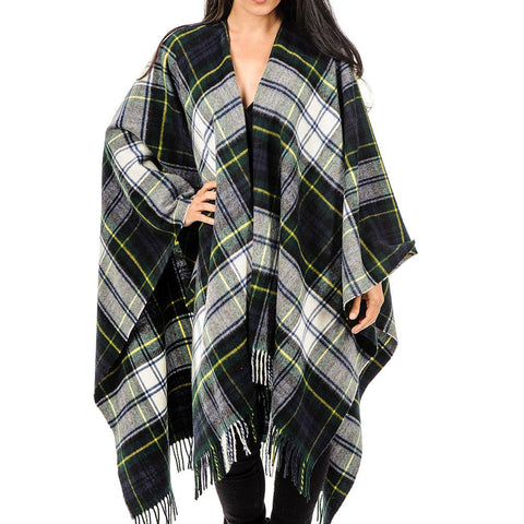 Dress Gordon Tartan Pure Merino Wool Cape