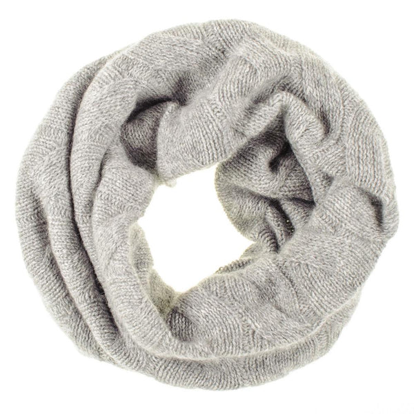 Grey Cable Knit Cashmere Snood