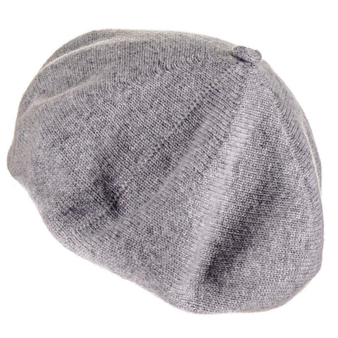 Classic Grey Cashmere Beret