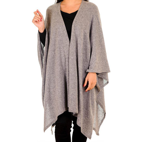 Warm Grey Cashmere Coatigan