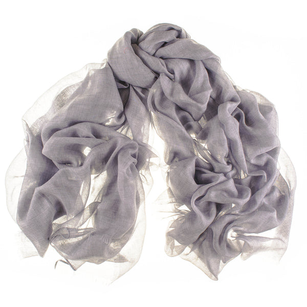 Cloud Grey Modal and Cashmere Shawl