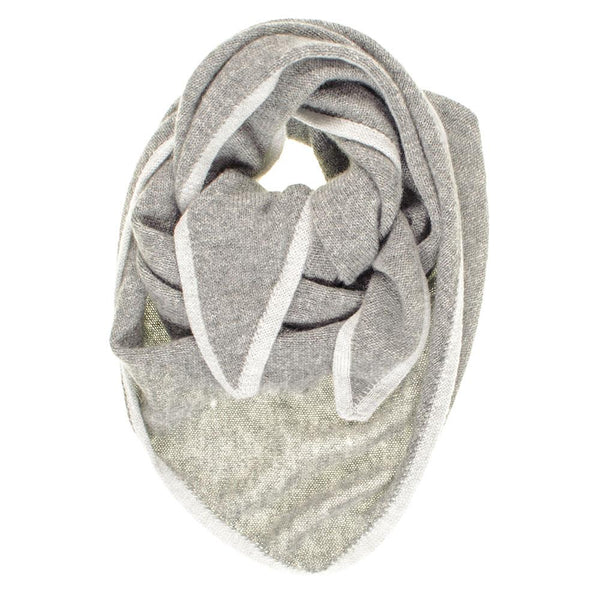 Tone Grey Triangle Cashmere Neck Tie
