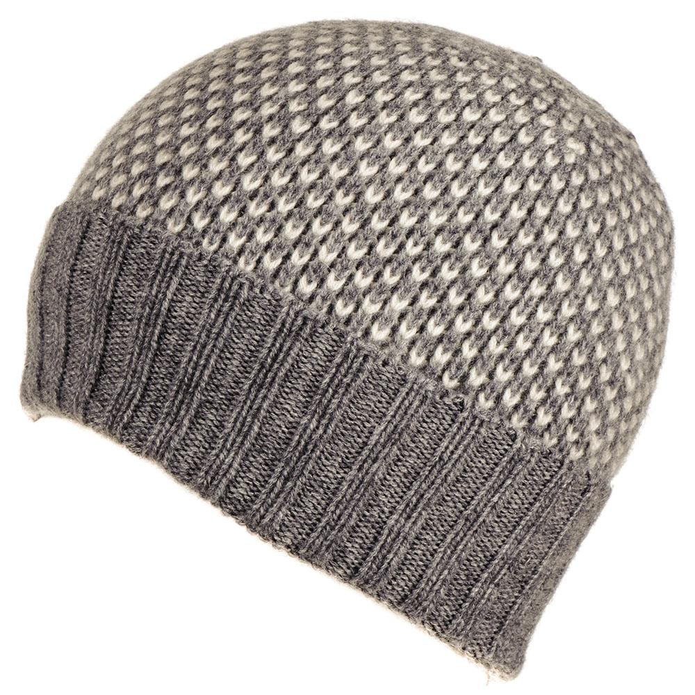 ce3680aaa83 Grey and Cream Cashmere Beanie – Black.co.uk