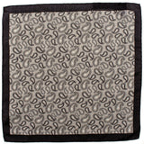 Black and Grey Paisley Silk Pocket Square