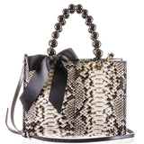 Ivory, Grey and Taupe Python Shoulder Bag