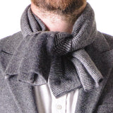 Grey Double Faced Cashmere Neck Warmer