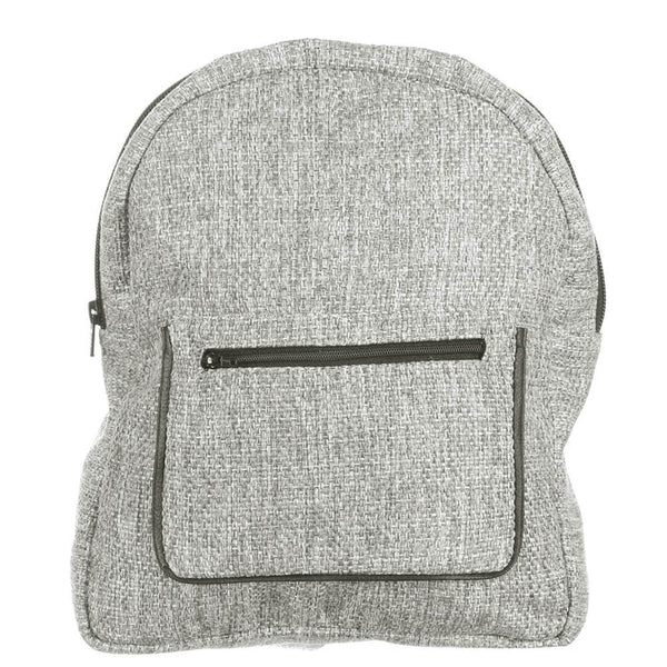 Grey Tweed Backpack