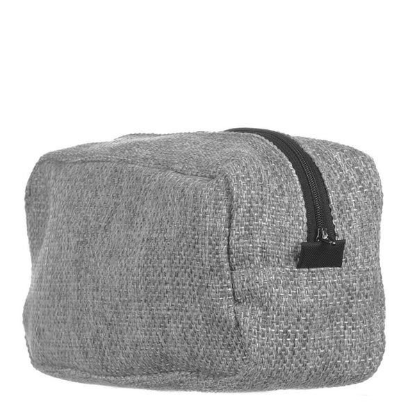 Men's Grey Tweed Wash Bag
