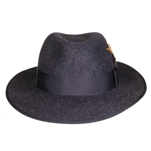 Mayfair Grey Wool Felt Fedora