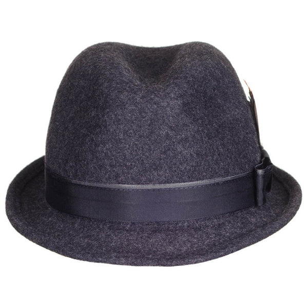 Bloomsbury Grey Wool Felt Trilby