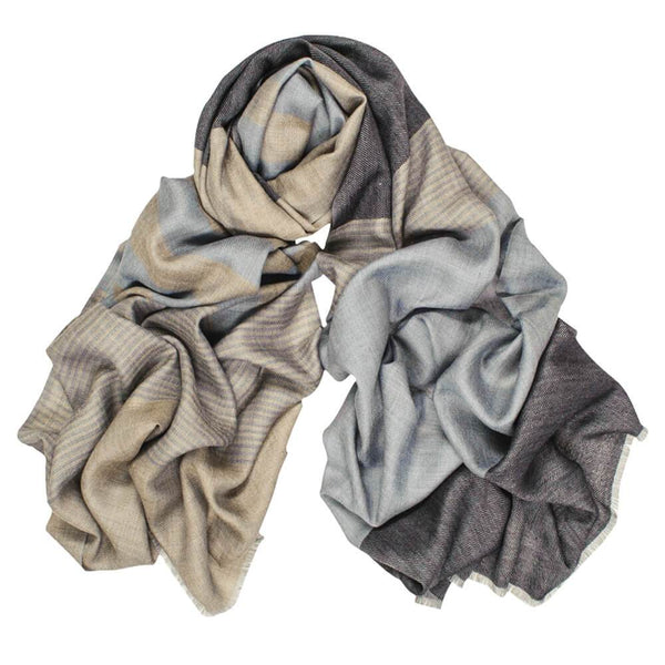 Hampshire Military Tone Wool and Silk Scarf