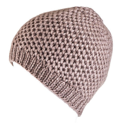 Nutmeg Brown Cashmere Beanie Hat