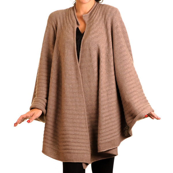 Walnut Brown Cashmere Swagger Cape
