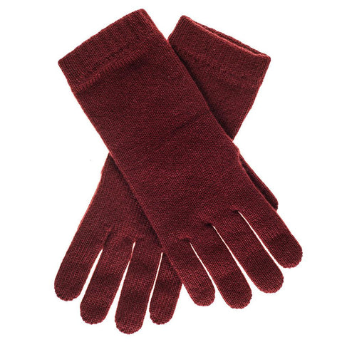 Ladies Bordeaux Cashmere Gloves